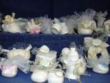 Подаръчета за сватба и кръщене -гипсови слончета,зайчета и ангелчета с украса-Занаяти