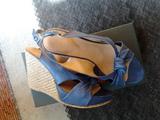 Сини сандали на платформа-Дамски Сандали