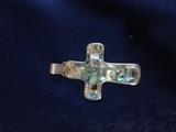Голям кръст сребро и седеф-Медальони
