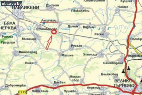 10 дка. земя лице на асфалт с.Лесичери - 23 км. от В. Търнов | Земеделска Земя | Велико Търново