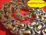 Код 05 Мъжки Ланец Версаче Златосто Сребрист цвят-Други Мъжки Аксесоари