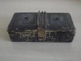 № 1640  много стара кутия - естествена кожа-Антики