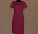 Вталена рокля корал-Дамски Рокли