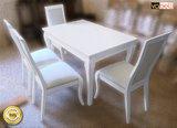 Бяла Разтегателна маса от масив ВАНЕСА - гланц-Мебели и Обзавеждане