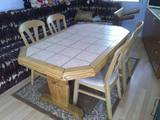 Промоция: комплект трапезарна маса и столове масивен дъб-хол-Мебели и Обзавеждане