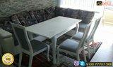 Бяла Трапезарна маса ВАНЕСА и бели столове по поръчка-Мебели и Обзавеждане