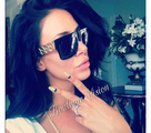 Унисекс слънчеви очила като на Ким Кардашиан, Бийонсе,-Дамски Слънчеви Очила