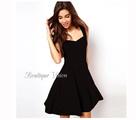Страхотна елегантна черна рокля, наличен размер С-Дамски Рокли