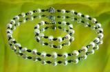 Колие и гривна от eстествени перли и хематит на промоция-Комплекти
