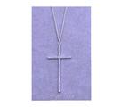 Ново! Колие - кръст, посребрено, с камъни цирконий-Обеци