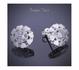 Ново! Сребърни обици с камък цирконий, проба 925 | Обеци  - Русе - image 3