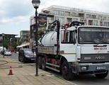 Фекалка Бургас - отпушване на канали-Почистване