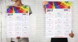 Еднолистов календар с дизайн по Ваш избор-Реклама и печат