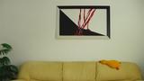 Абстрактна картина Sort og hvitt-Изкуство