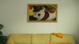 Абстрактна картина Sovende hund-Изкуство