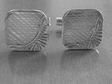 Сребърни гравирани копчелъци-Копчета за ръкавели