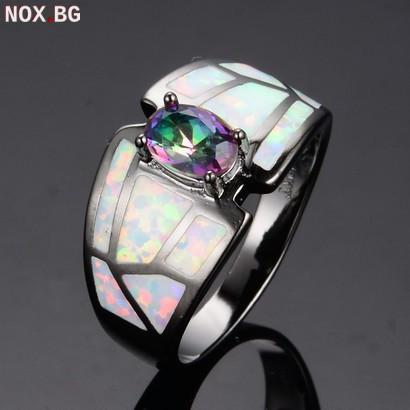 Дамски пръстени с опал и кристали | Пръстени | Варна