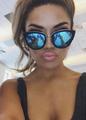 Ново! Сини огледални слънчеви очила Louis Vuitton, ув защита-Дамски Слънчеви Очила