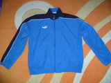 Оригинално спортно горнище Пума мъжки суичър PUMA син цвят с-Мъжки Суичари