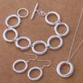 Комплект бижута сребърно покритие 925 Silver-Комплекти