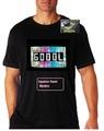 Продавам ,ЕЛ парти тениски със светещ панел-Мъжки Тениски