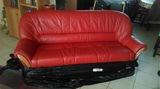 Кожен диван+две табуретки+холна маса-Мебели и Обзавеждане