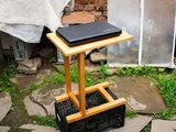 Дървена масичка за диван, маса за диван на колела, за лаптоп-Мебели и Обзавеждане