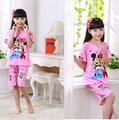 Детска лятна пижама за момиче розова с Мини Маус-Детски Дрехи