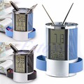 Дигитален моливник LCD часовник дата час термометър-Дом и Градина
