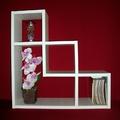 Етажерка за стена = Бяла-Мебели и Обзавеждане