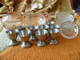 Стари стъклени водни чаши комплект ретро чашки за ракия купи-Колекции