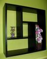 Етажерка за стена - Черна-Мебели и Обзавеждане