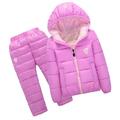 Детски зимен комплект яке с качулка и панталони за 7 годишно дете-Детски Дрехи