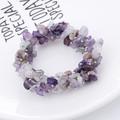 Ново! Гривна + подарък пръстен с полускъпоценни камъни-амети-Гривни