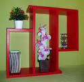 Етажерка за стена - Червена-Мебели и Обзавеждане