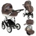 Бебешка количка 2в1 MIA с помпащи гуми/ кафява-Детски Колички