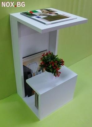 Помощна маса - Бял Гланц | Мебели и Обзавеждане | Пловдив
