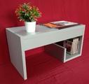 Помощна маса - Сив металик-Мебели и Обзавеждане