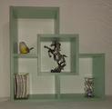 Етажерка за стена - Зелен Нефрит-Мебели и Обзавеждане