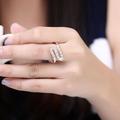 Дамски пръстен с камъчета сребърно покритие 925-Пръстени