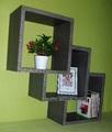 Етажерка за стена - Дъб антрацит-Мебели и Обзавеждане
