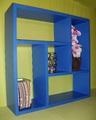 Етажерка за стена - Синя-Мебели и Обзавеждане