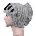 Плетена сива зимна шапка Рицар гладиатор забавна мъжка шапка-Мъжки Шапки
