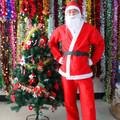 Костюм на Дядо Коледа за възрастен универсален размер 5 част-Мъжки Костюми