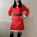 Дамски костюм на Снежанка театрален коледен сукман рокля-Дамски Рокли