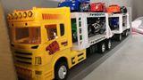 Голям детски автовоз с коли и мотори играчка за момче Ново-Детски Играчки
