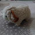 Малка плюшена овца с рога декорация за дом беседка-Детски Играчки
