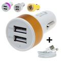 Комплект зарядно за запалка на кола с два USB порта и USB ка-Части и Аксесоари