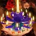 Музикална свещ Лотос за рожден ден с 14 броя свещички-Аксесоари