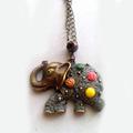 Винтидж стил колие медальон Слонче ръчна изработка-Медальони